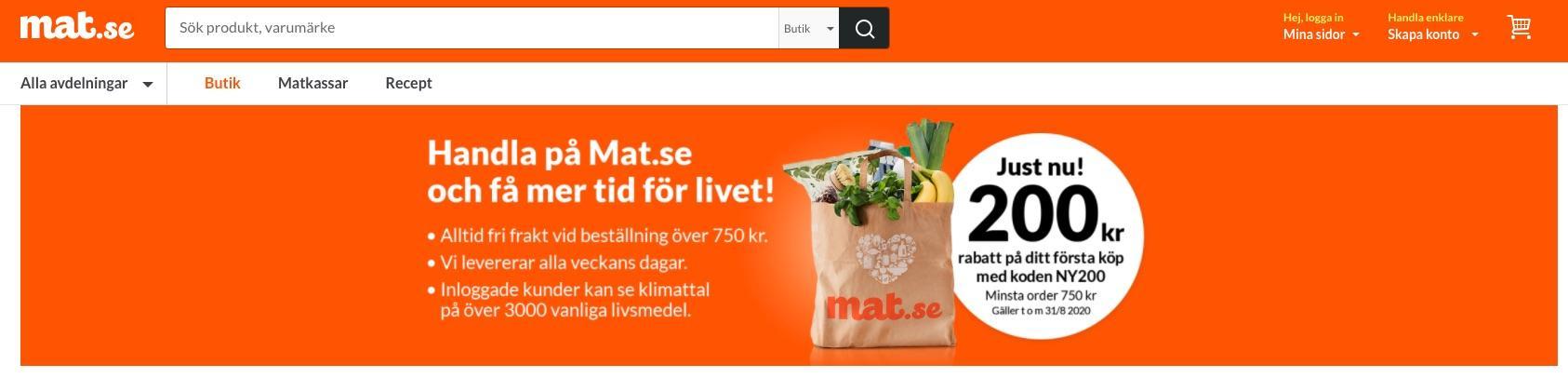 Mat.se Matkasse