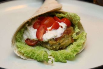 Falafel i tortilliabröd