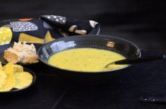 Rostad majssoppa med bönröra