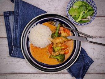 Kyckling i röd curry