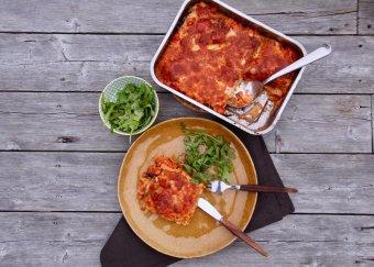 Vegetarisk lasagne med aubergine