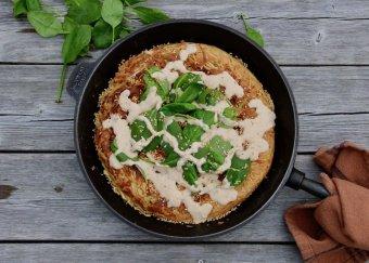 Okonomiyaki med spenat