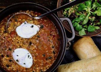 Harira - linssoppa med pocherat ägg
