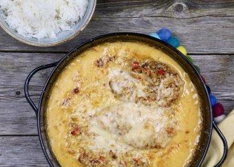 Kycklinggryta med chili och ingefära