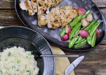 Grillad kycklingfilé med risotto