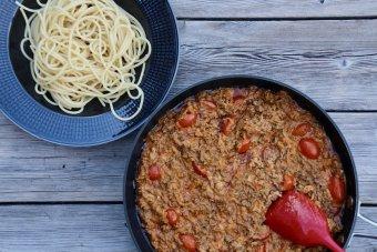 Pasta Siciliana med tomatsås