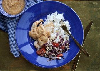 Kycklingfilé med jordnötssås