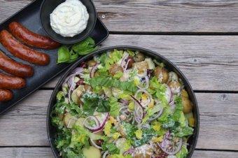 Potatissallad med salsiccia