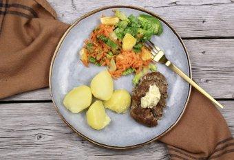 Köttfärslimpa med Café de Parissmör