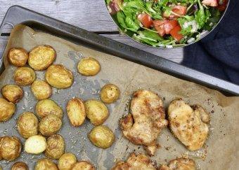 Ugnsrostad kyckling med potatissallad