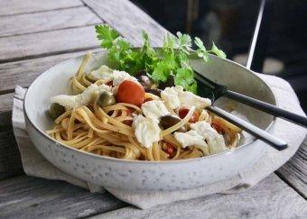 Pasta Chitarra med mozzarella