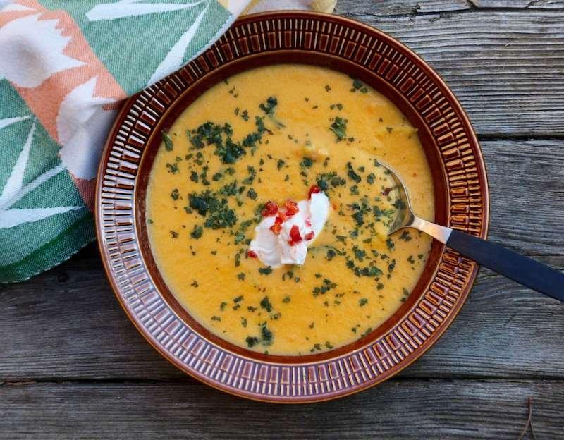 Morotssoppa med koriander